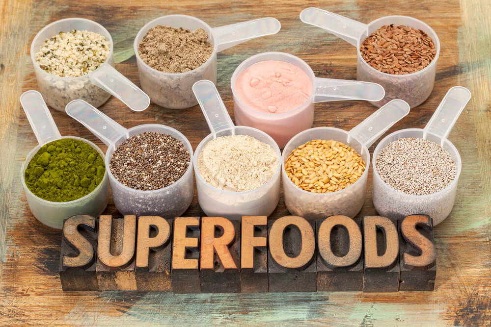 different superfood and supplement